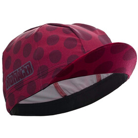 Bioracer Technical Fietspet, polka dot bordeaux